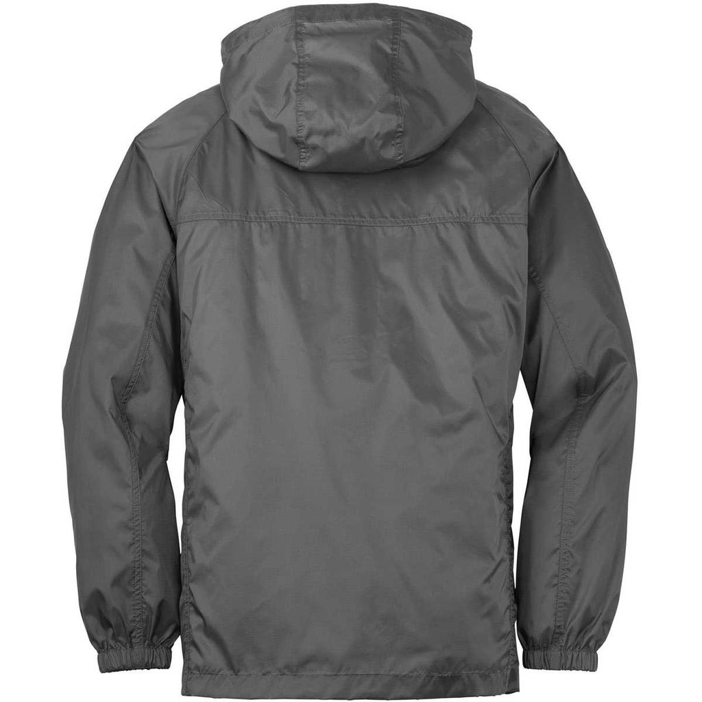 Eddie Bauer Men's Grey Steel Packable Wind Jacket