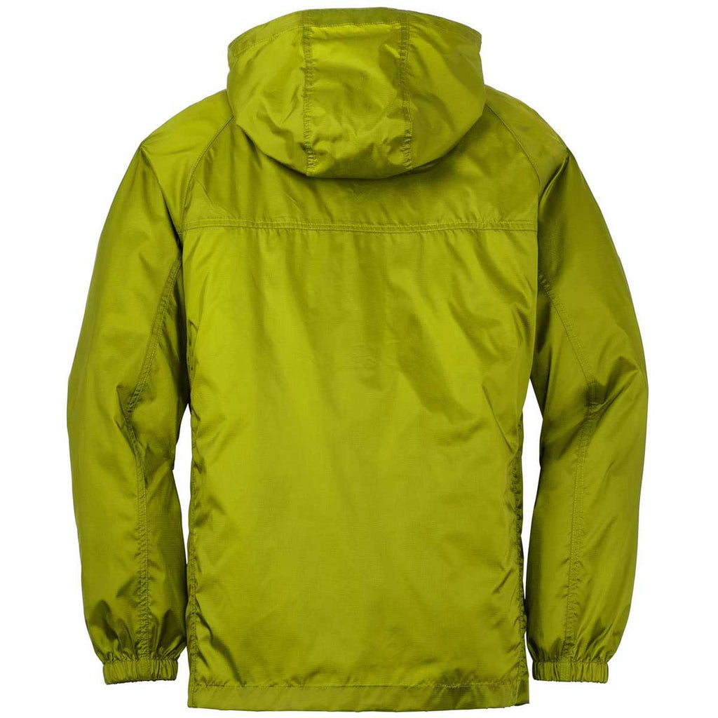 Eddie Bauer Men's Pear Green Packable Wind Jacket