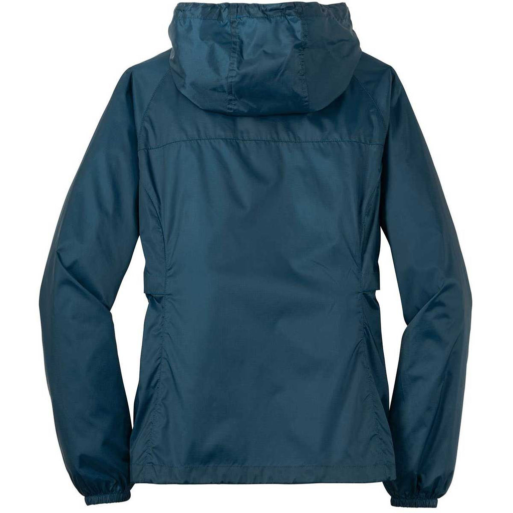 Eddie Bauer Women's Adriatic Blue Packable Wind Jacket