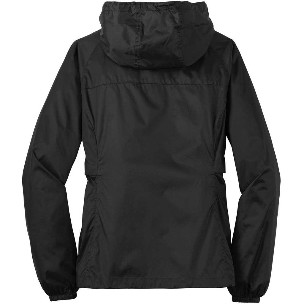 Eddie Bauer Women's Black Packable Wind Jacket