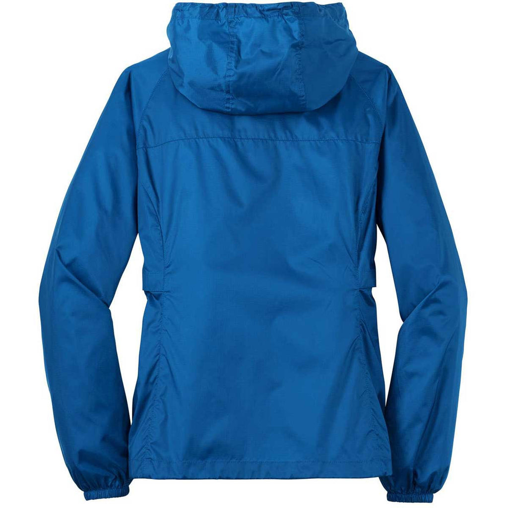 Eddie Bauer Women's Brilliant Blue Packable Wind Jacket