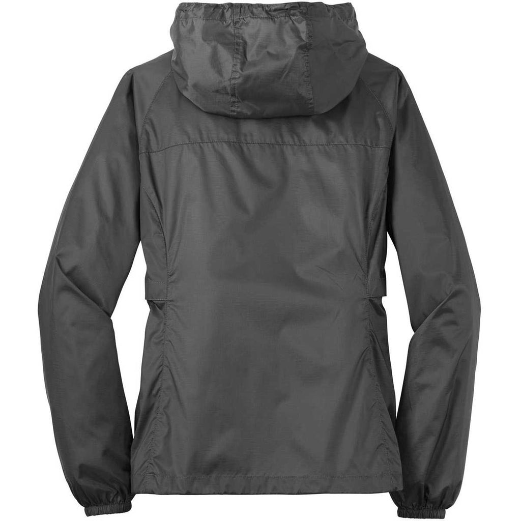 Eddie Bauer Women's Grey Steel Packable Wind Jacket