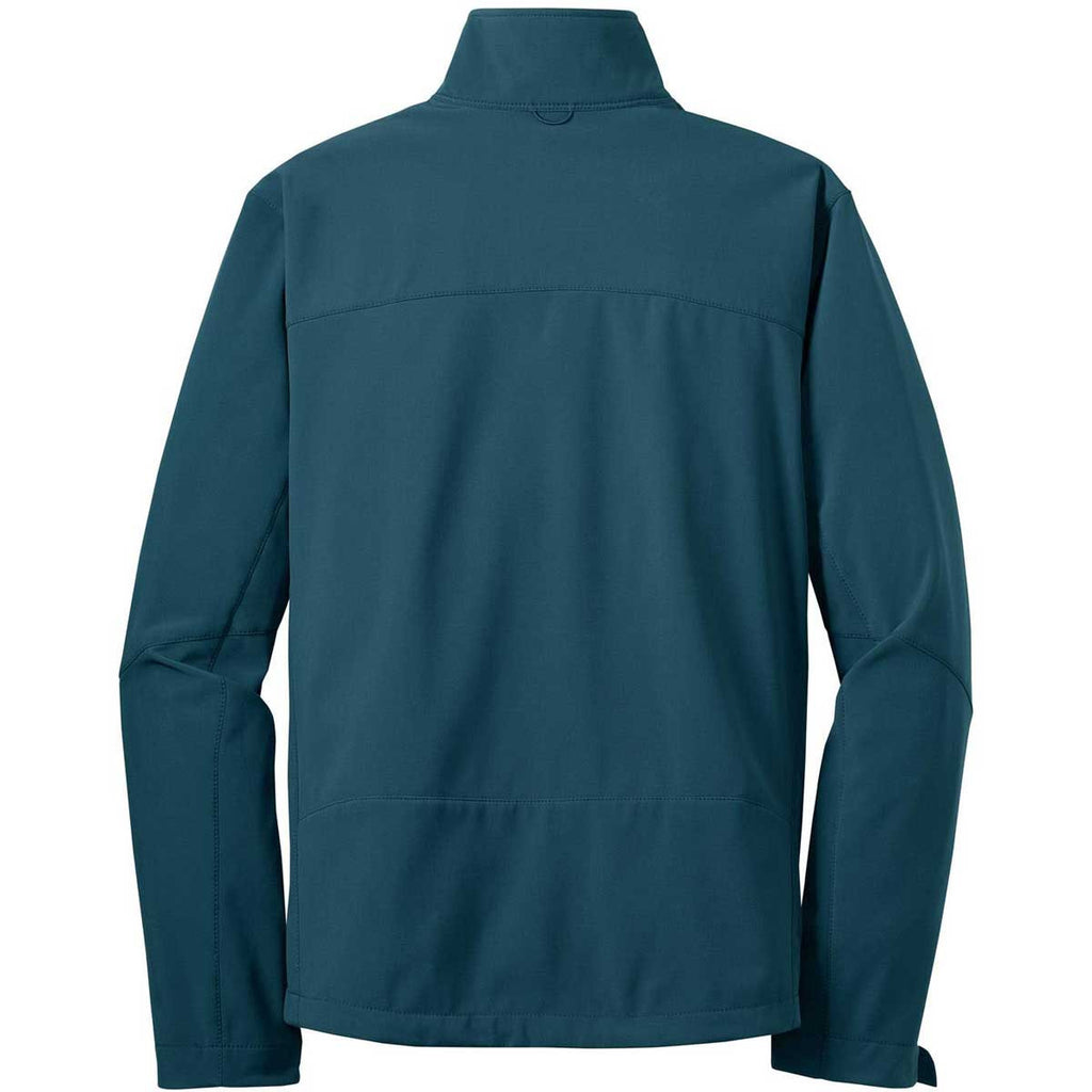 Eddie Bauer Men's Dark Adriatic Blue Softshell Jacket