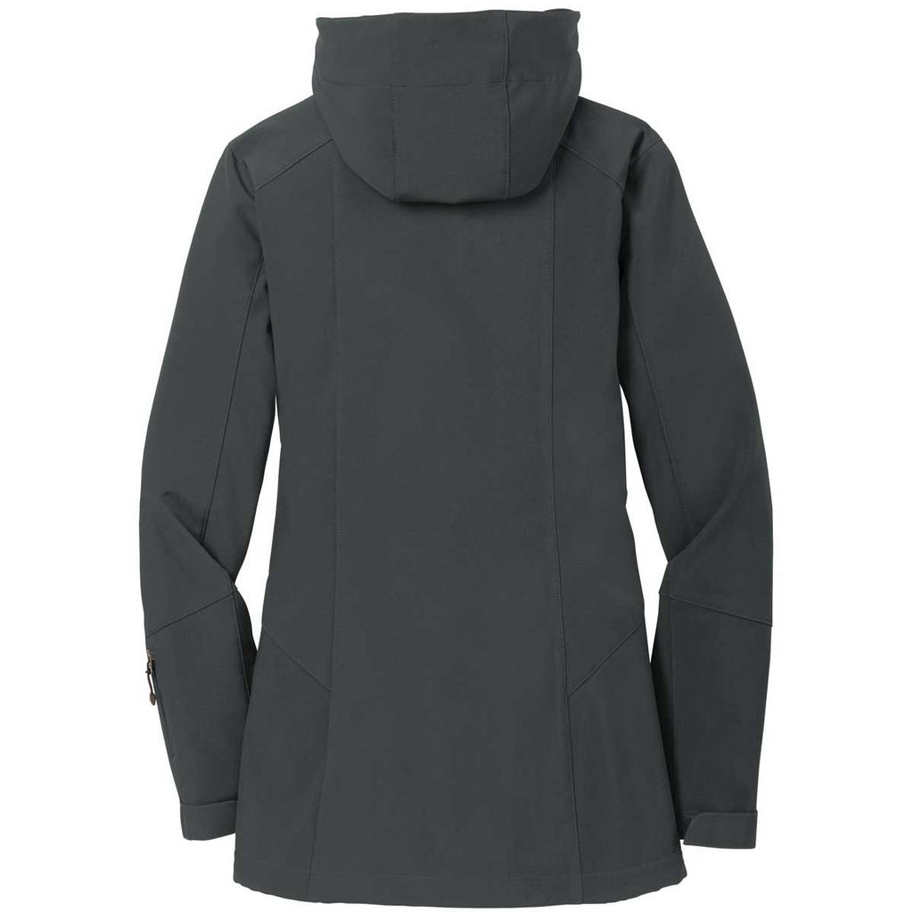 Eddie Bauer Women's Grey Steel Hooded Softshell Parka
