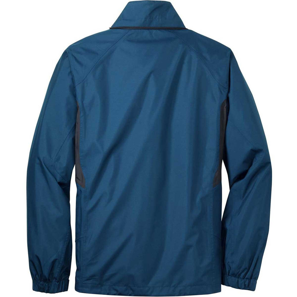 Eddie Bauer Men's Deep Sea Blue/Dark Adriatic Rain Jacket