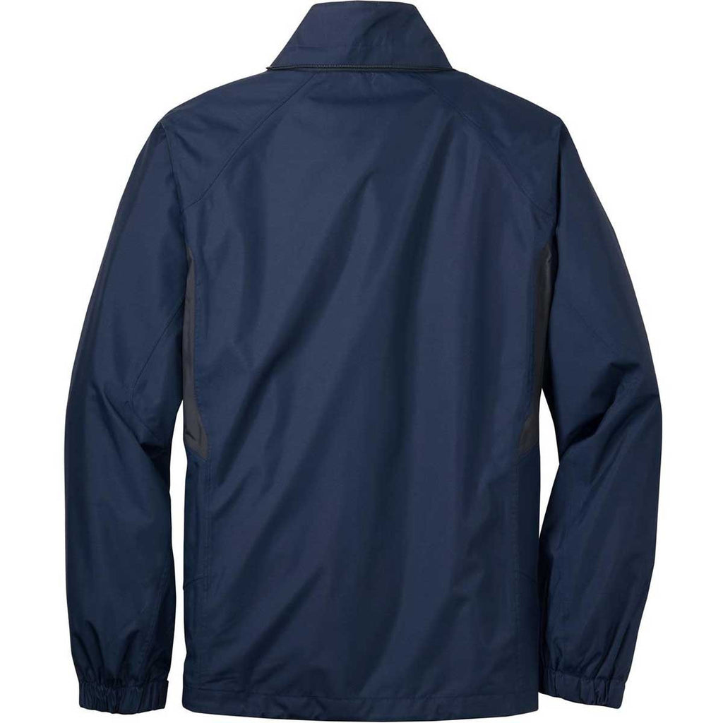 Eddie Bauer Men's River Blue/Grey Steel Rain Jacket