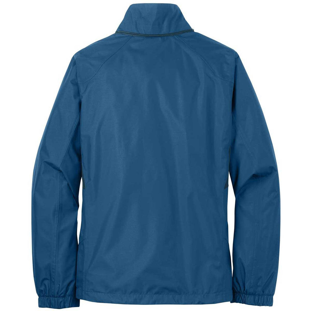 Eddie Bauer Women's Deep Sea Blue/Dark Adriatic Rain Jacket