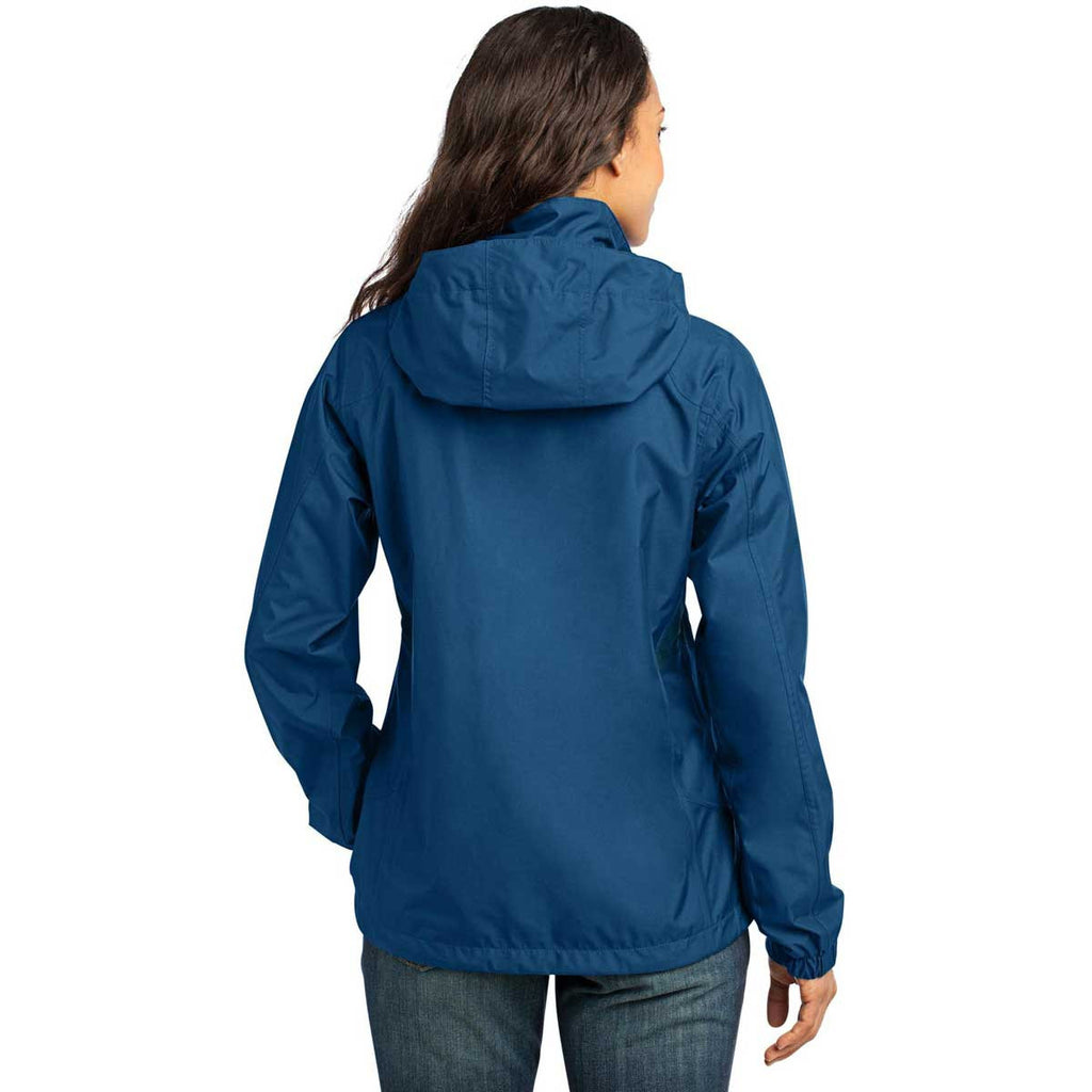NEPC - Eddie Bauer Women's Deep Sea Blue/Dark Adriatic Rain Jacket