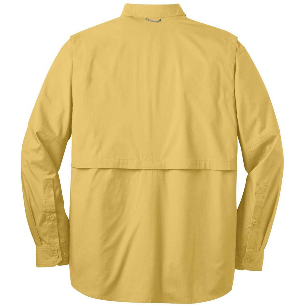 Eddie Bauer Men's Goldenrod Yellow L/S Fishing Shirt