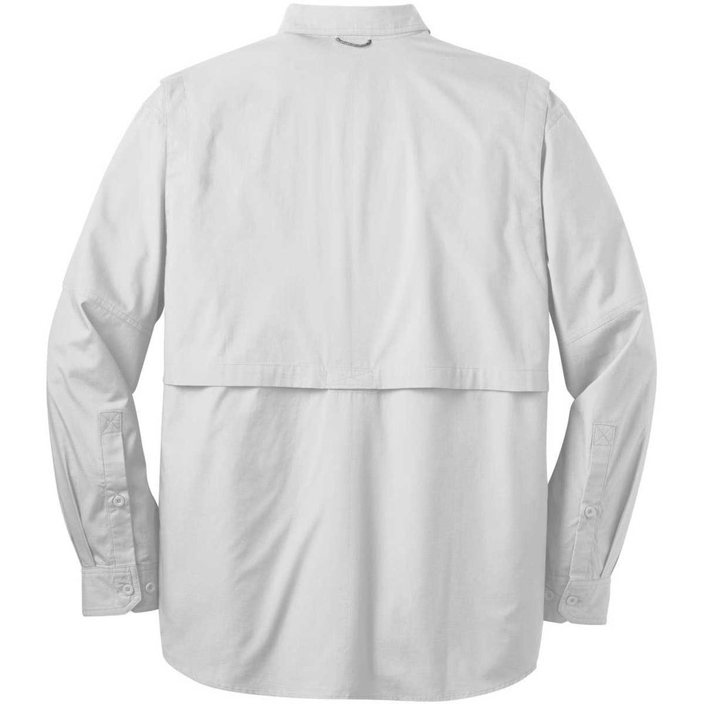 Eddie Bauer Men's White L/S Fishing Shirt