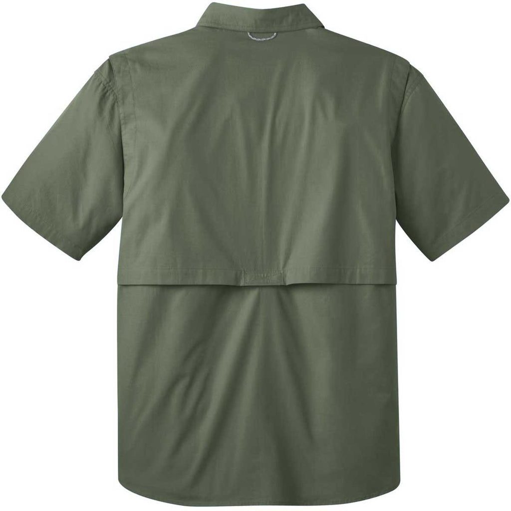 Eddie Bauer Men's Seagrass Green S/S Fishing Shirt