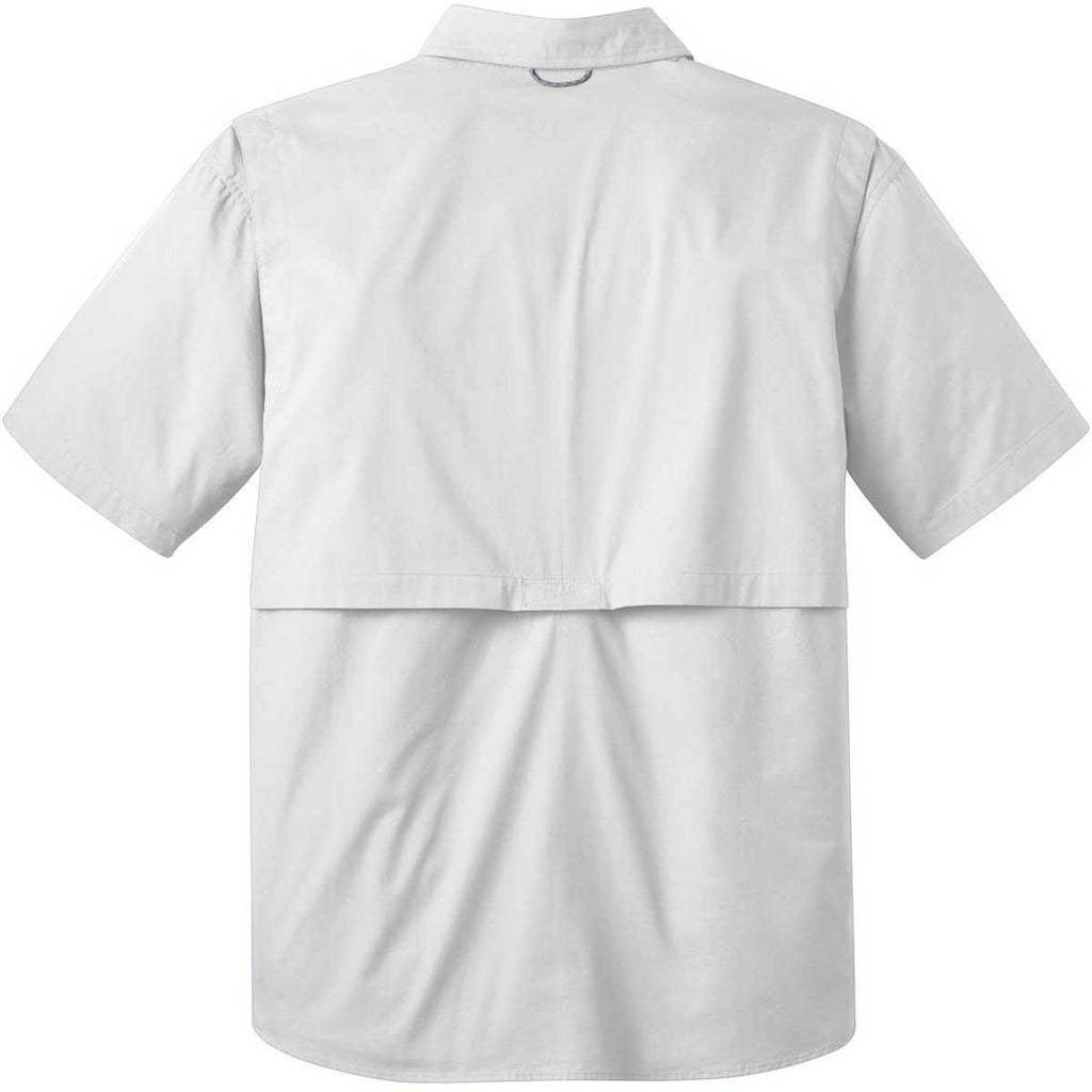 Eddie Bauer Men's White S/S Fishing Shirt