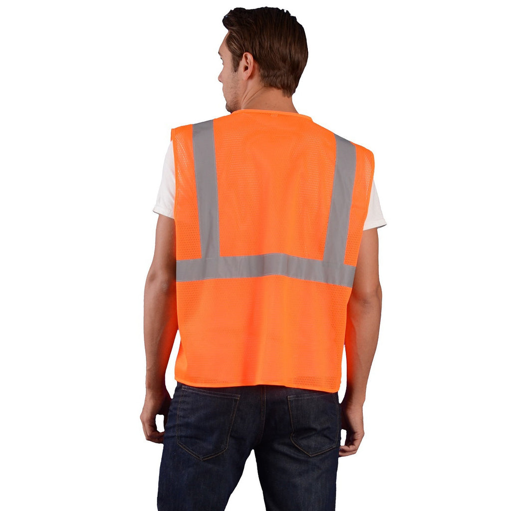 OccuNomix Orange 5 Pt. Break-Away Mesh Vest