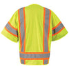 OccuNomix Men's Yellow Mesh Two-Tone Surveyor Vest with Zipper