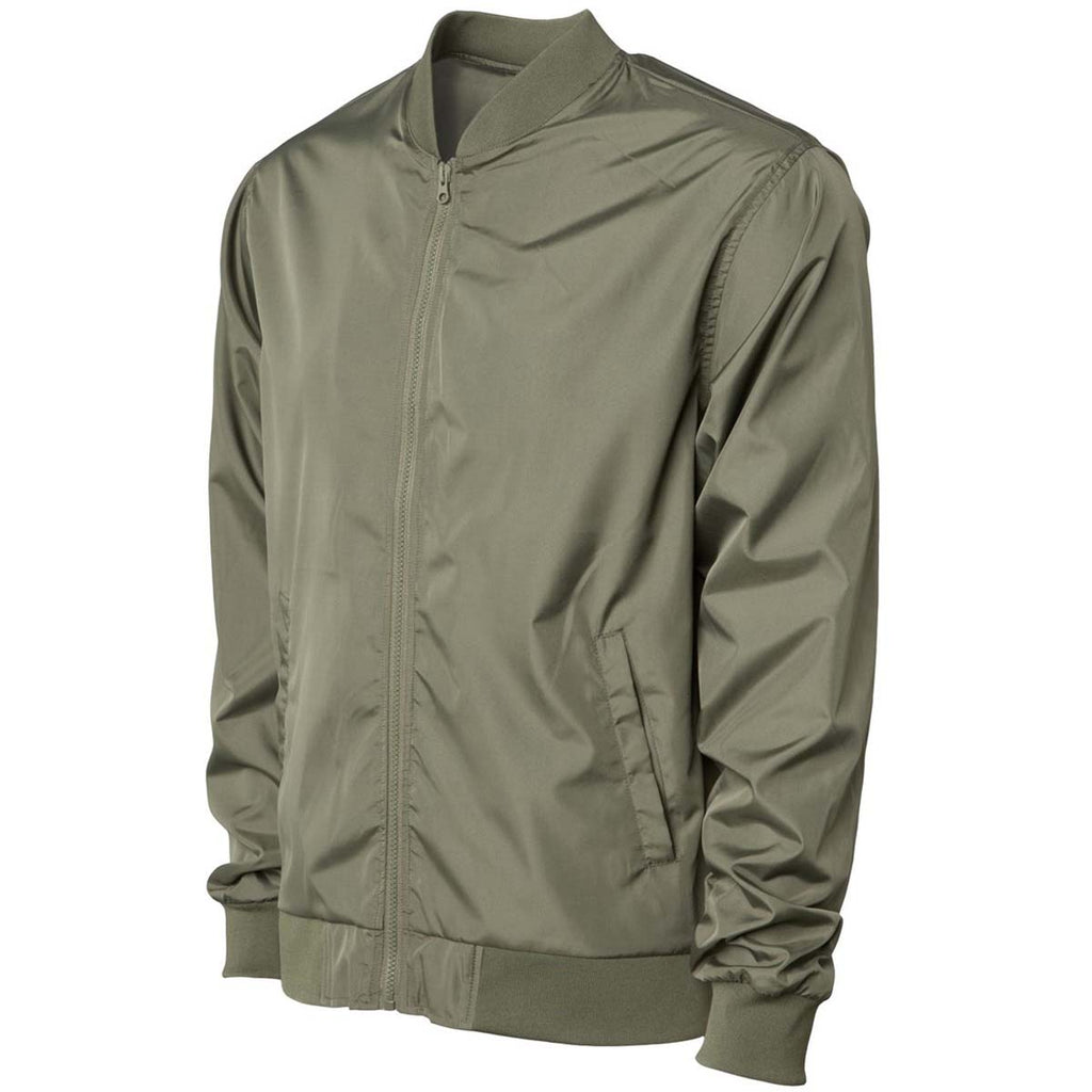 Independent Trading Co. Unisex Army Lightweight Bomber Jacket