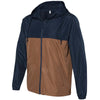 Independent Trading Co. Unisex Classic Navy/Saddle Light Weight Windbreaker Zip Jacket