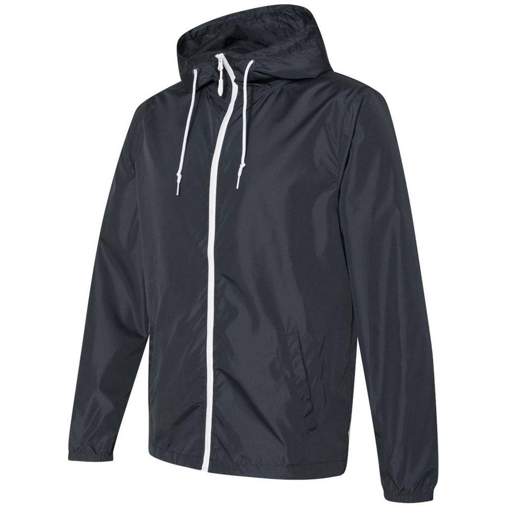 Independent Trading Co. Unisex Classic Navy/White Zipper Light Weight Windbreaker Zip Jacket
