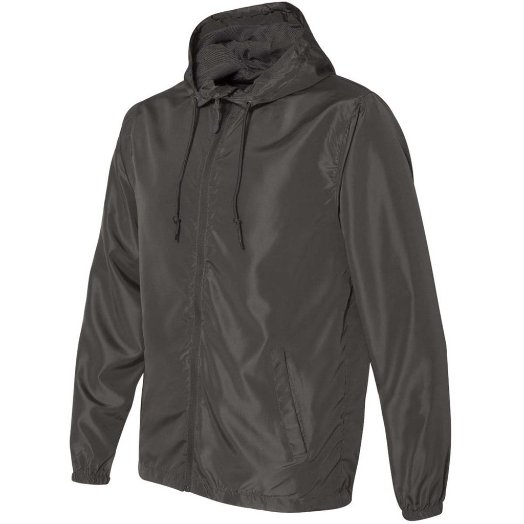 Independent Trading Co. Unisex Graphite Light Weight Windbreaker Zip Jacket