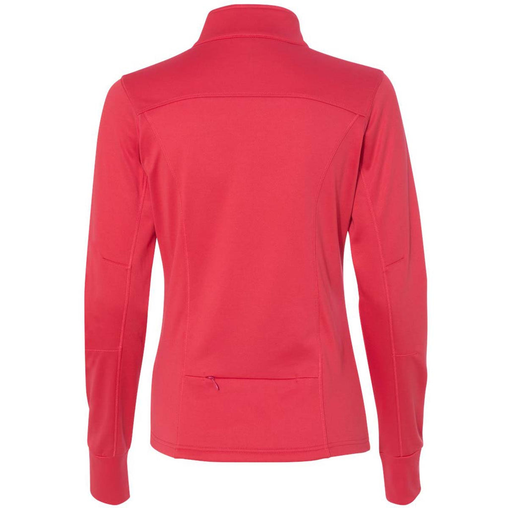 Independent Trading Co. Women's Coral Poly-Tech Full-Zip Track Jacket