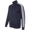 Independent Trading Co. Unisex Classic Navy Poly-Tech Full-Zip Track Jacket