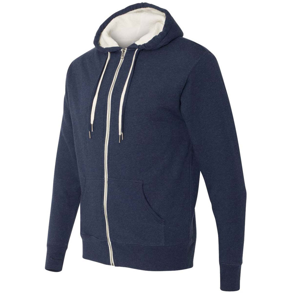 Independent Trading Co. Unisex Navy Heather Sherpa-Lined Hooded Sweatshirt