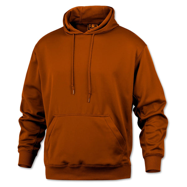 Baw Men S Texas Orange Pullover Fleece Hooded