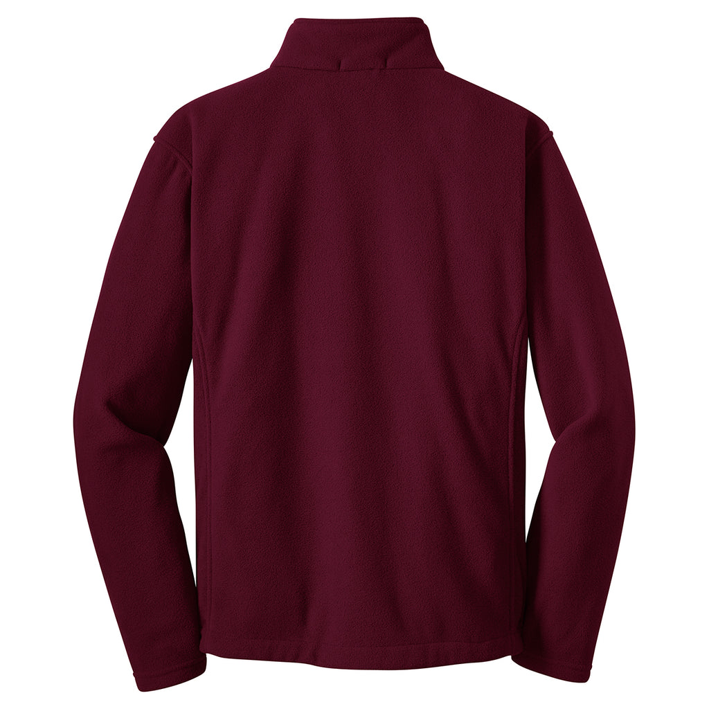 Port Authority Men's Maroon Value Fleece Jacket
