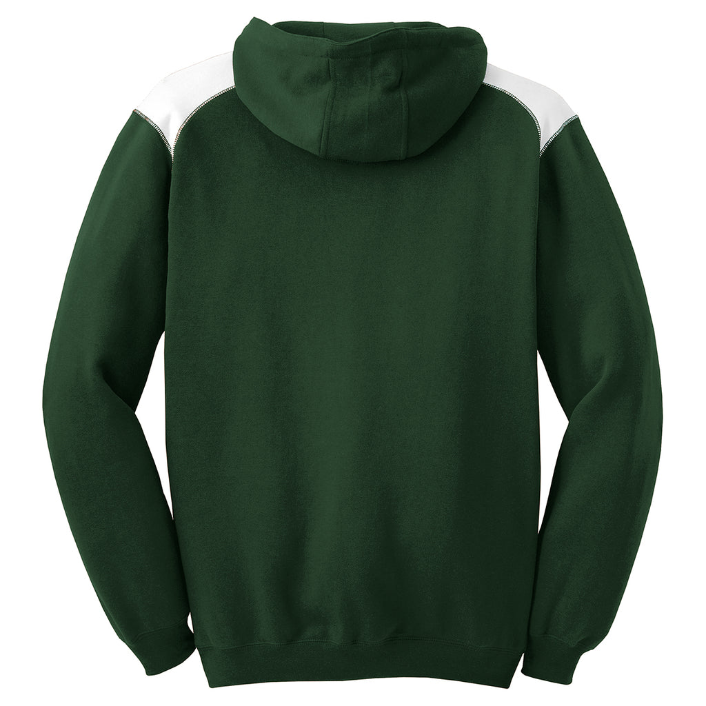 b22b4960438 As low as  22.49 USD. Sport-Tek Men s Forest Green Pullover Hooded  Sweatshirt ...