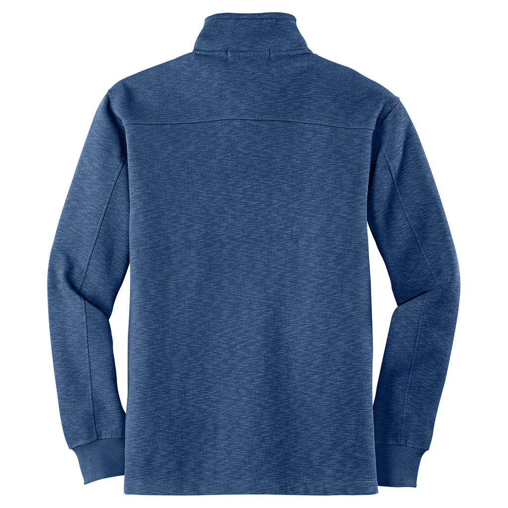 Port Authority Men's Twilight Blue 1/4 Zip Slub Fleece Pullover
