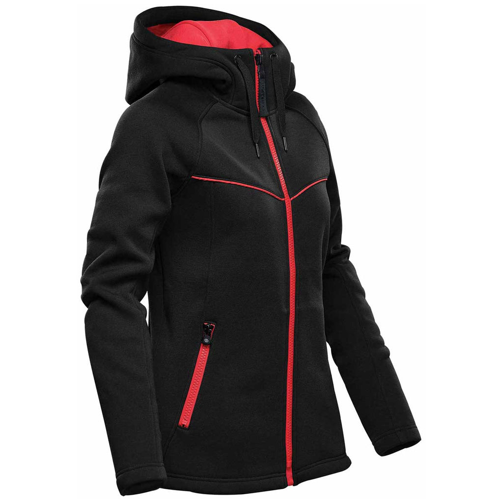 Stormtech Women's Black/Bright Red Logan Performance Hoody