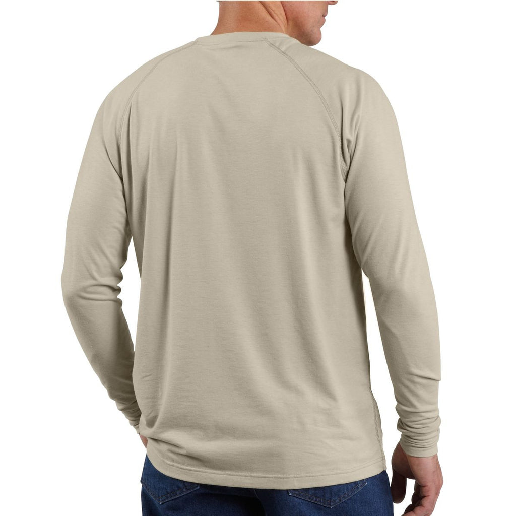 Carhartt Men's Sand Flame-Resistant Force Long Sleeve T-Shirt