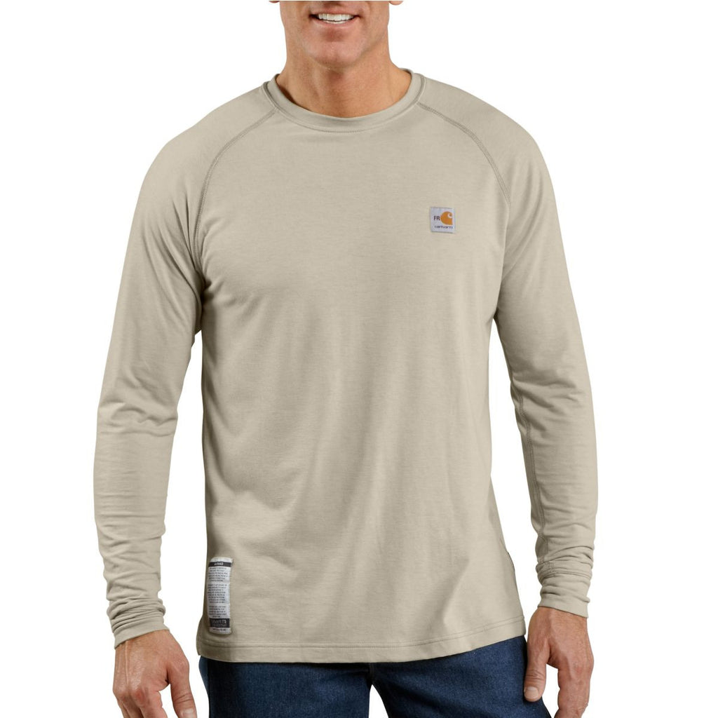 688c37ba6576 Carhartt Men s Sand Flame-Resistant Force Long Sleeve T-Shirt. ADD YOUR LOGO