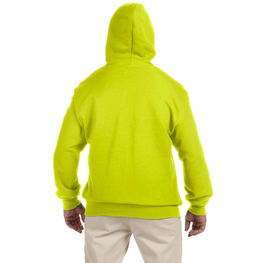 Gildan Men's Safety Green DryBlend 9 oz. 50/50 Full Zip Hoodie