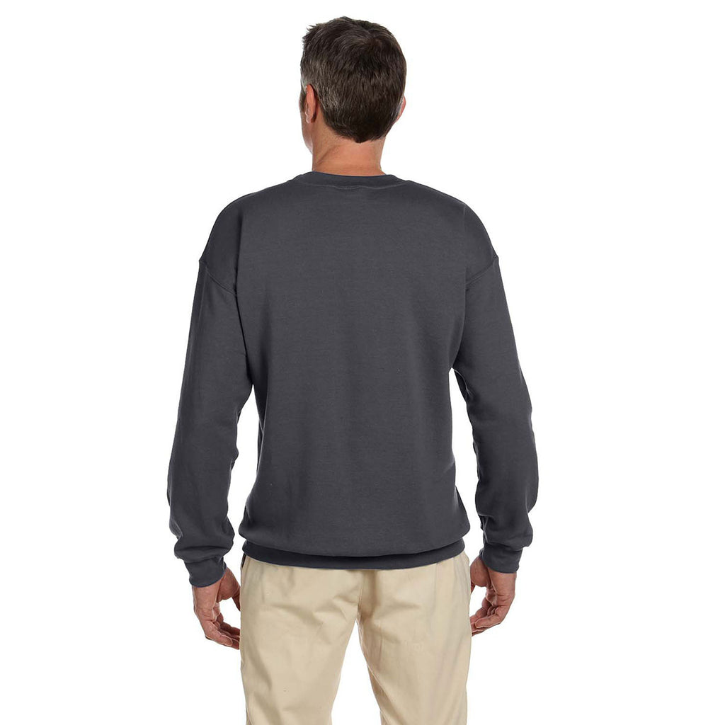 Gildan Men's Charcoal Heavy Blend 50/50 Fleece Crew