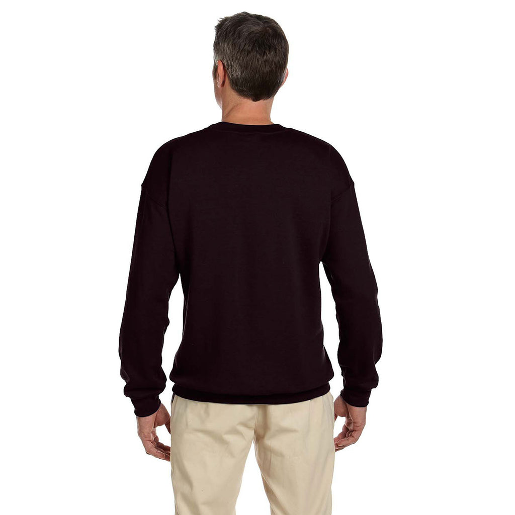 Gildan Men's Dark Chocolate Heavy Blend 50/50 Fleece Crew