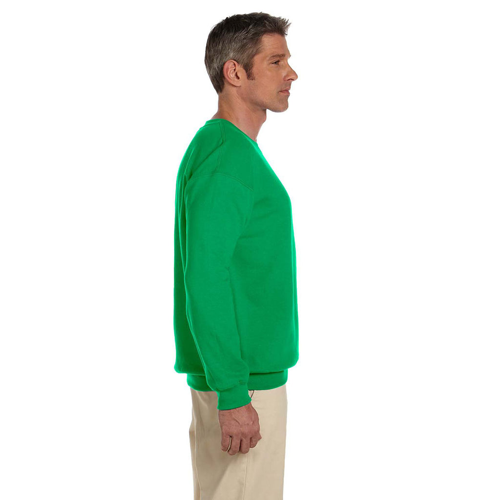 Gildan Men's Irish Green Heavy Blend 50/50 Fleece Crew