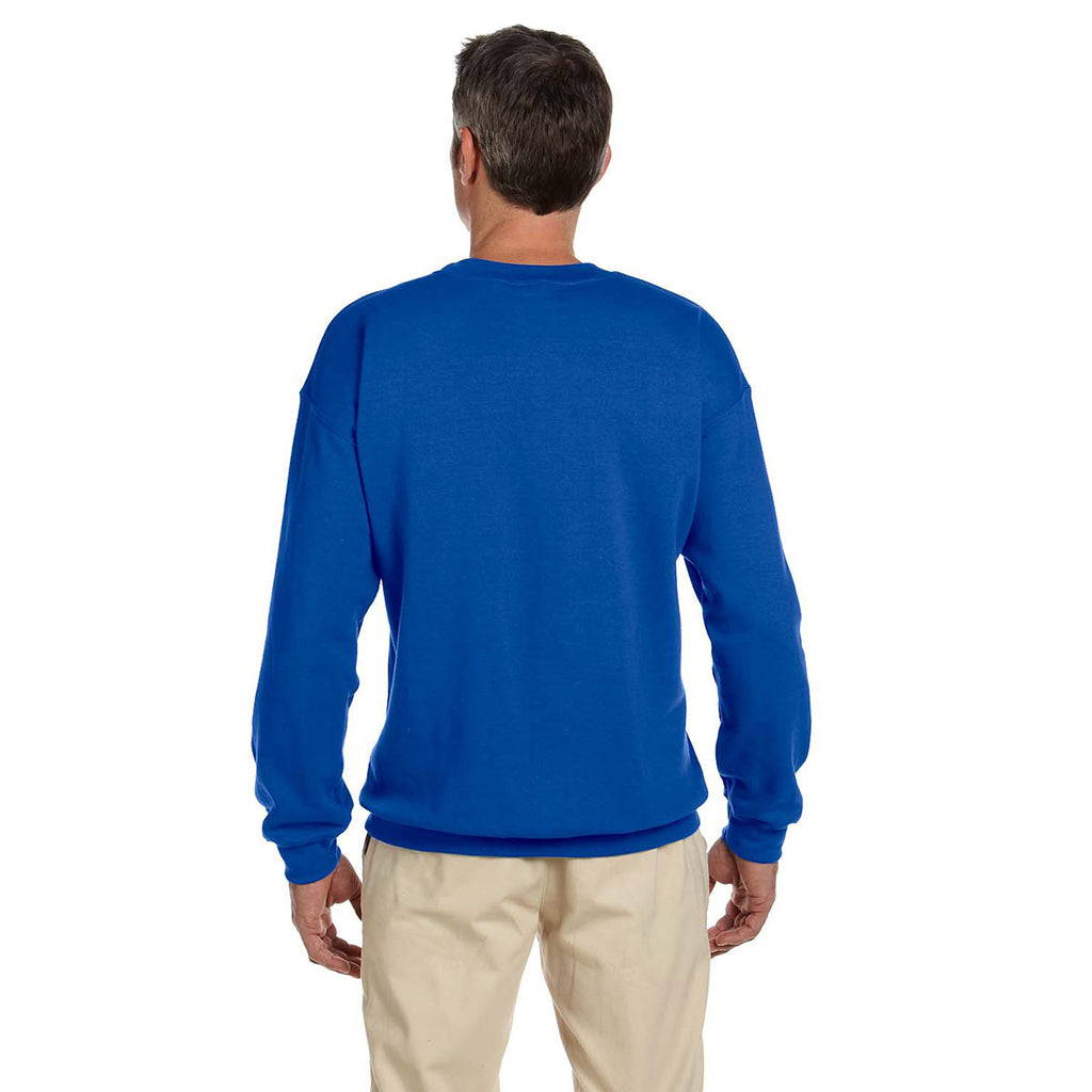 Gildan Men's Royal Heavy Blend 50/50 Fleece Crew