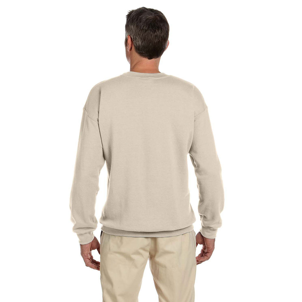 Gildan Men's Sand Heavy Blend 50/50 Fleece Crew
