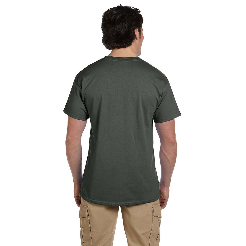 Gildan Men's Military Green Ultra Cotton 6 oz. T-Shirt