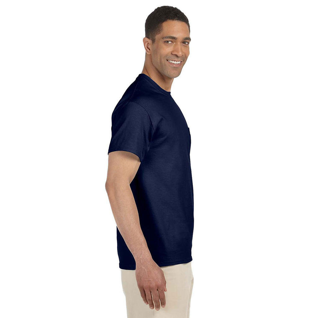 Gildan Men's Navy Ultra Cotton Pocket T-Shirt