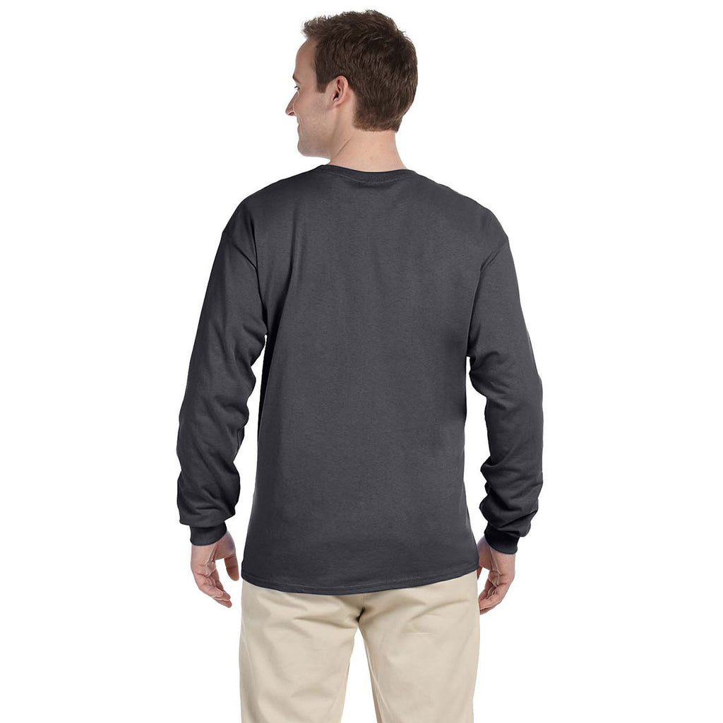 Gildan Men's Dark Heather Ultra Cotton Long Sleeve T-Shirt
