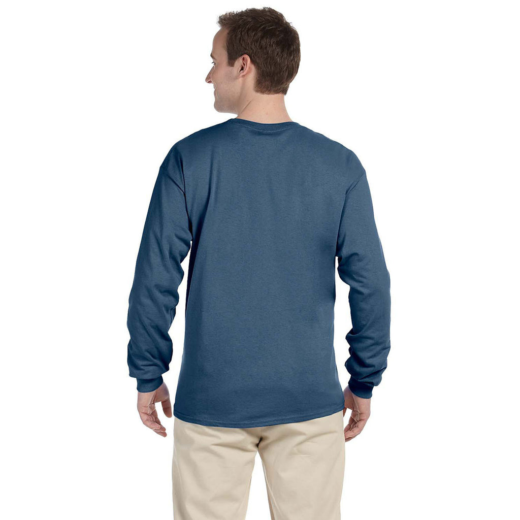 Gildan Men's Indigo Blue Ultra Cotton Long Sleeve T-Shirt