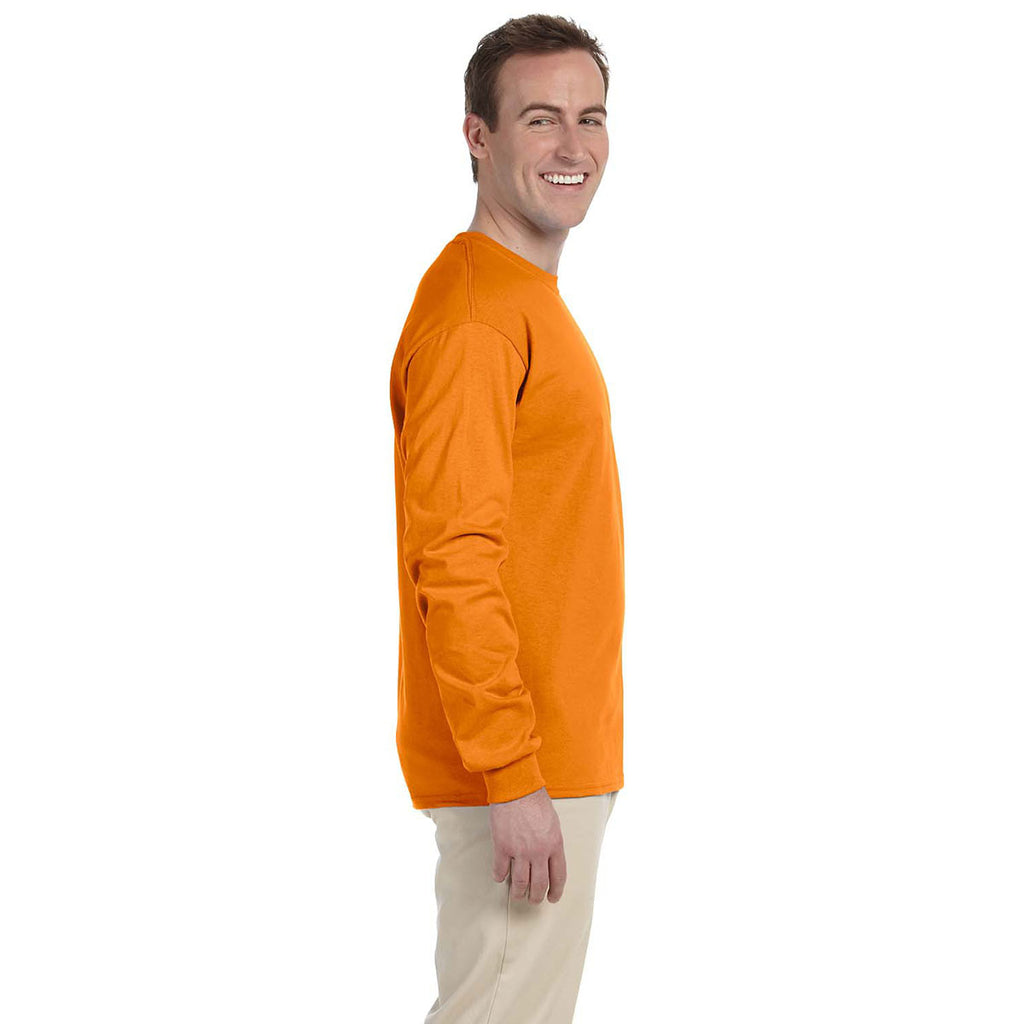 Gildan Men's Safety Orange Ultra Cotton Long Sleeve T-Shirt