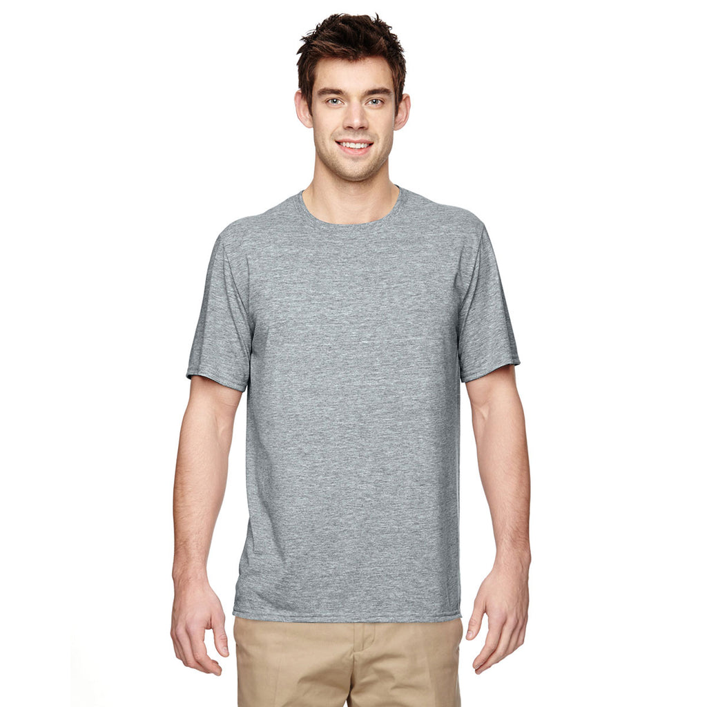 Shirt Grey Gildan Sport T Performance Men's f6ybYg7