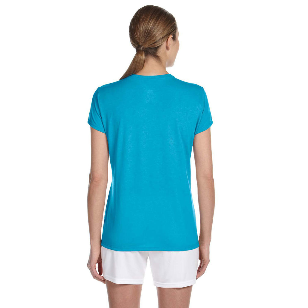 Gildan Women's Carolina Blue Performance 5 oz. T-Shirt