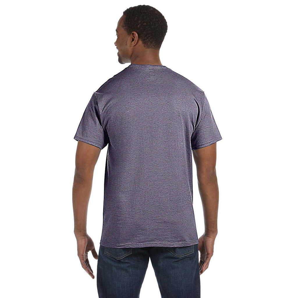 Gildan Men's Heather Navy 5.3 oz. T-Shirt