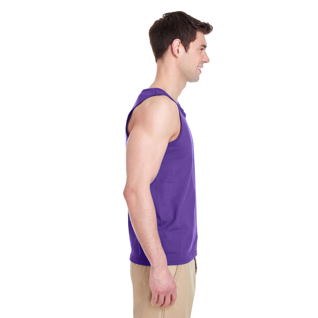 Gildan Men's Purple Heavy Cotton 5.3 oz. Tank