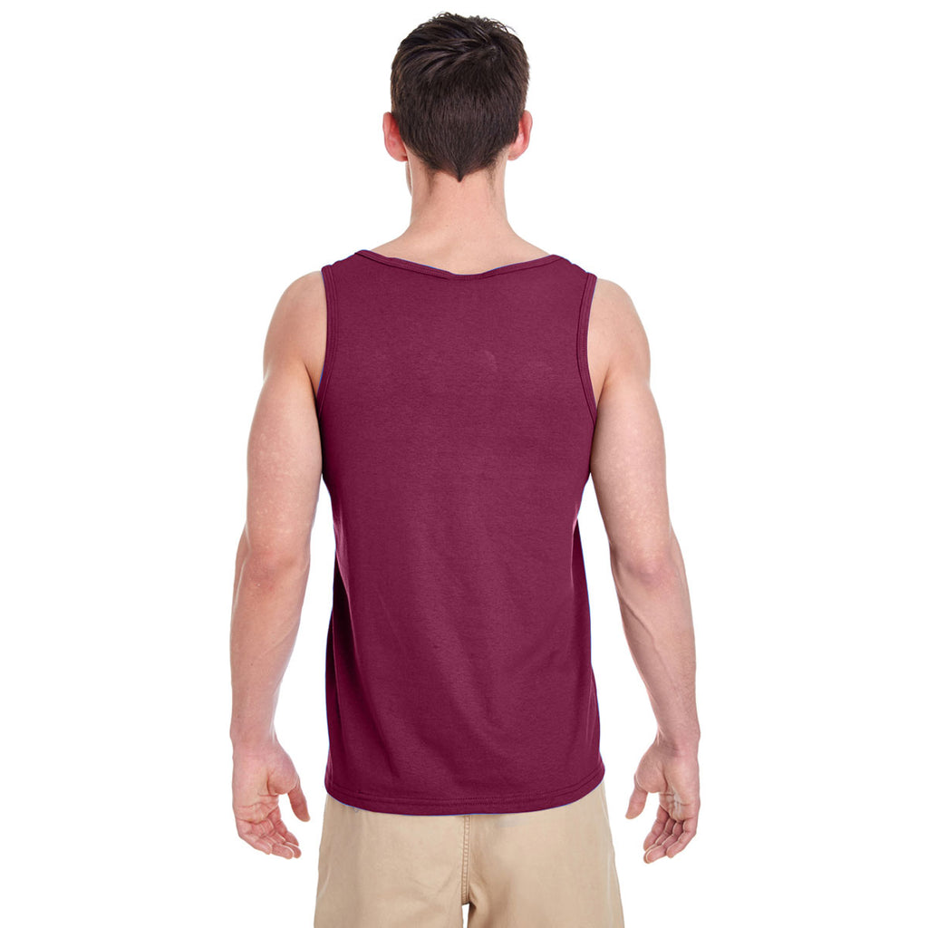 Gildan Men's Maroon Heavy Cotton 5.3 oz. Tank