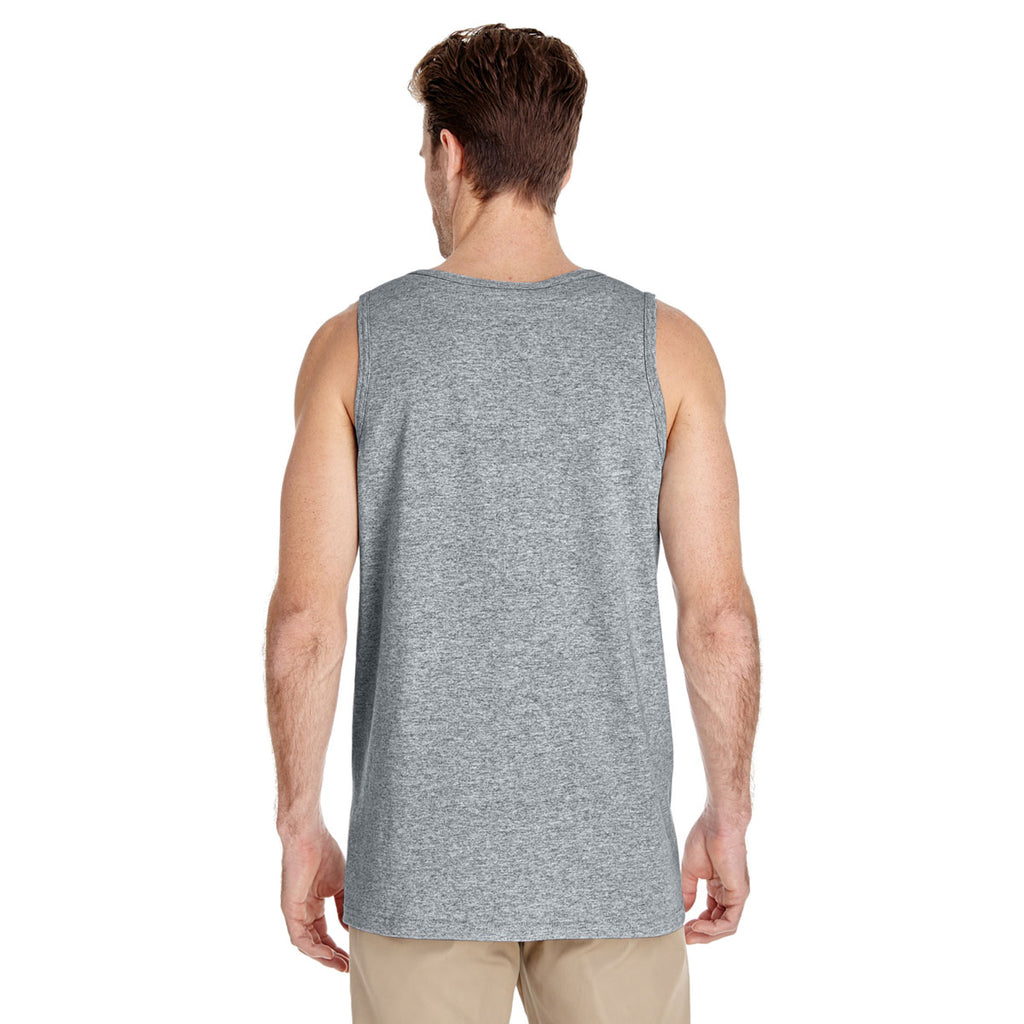 Gildan Men's Sport Grey Heavy Cotton 5.3 oz. Tank