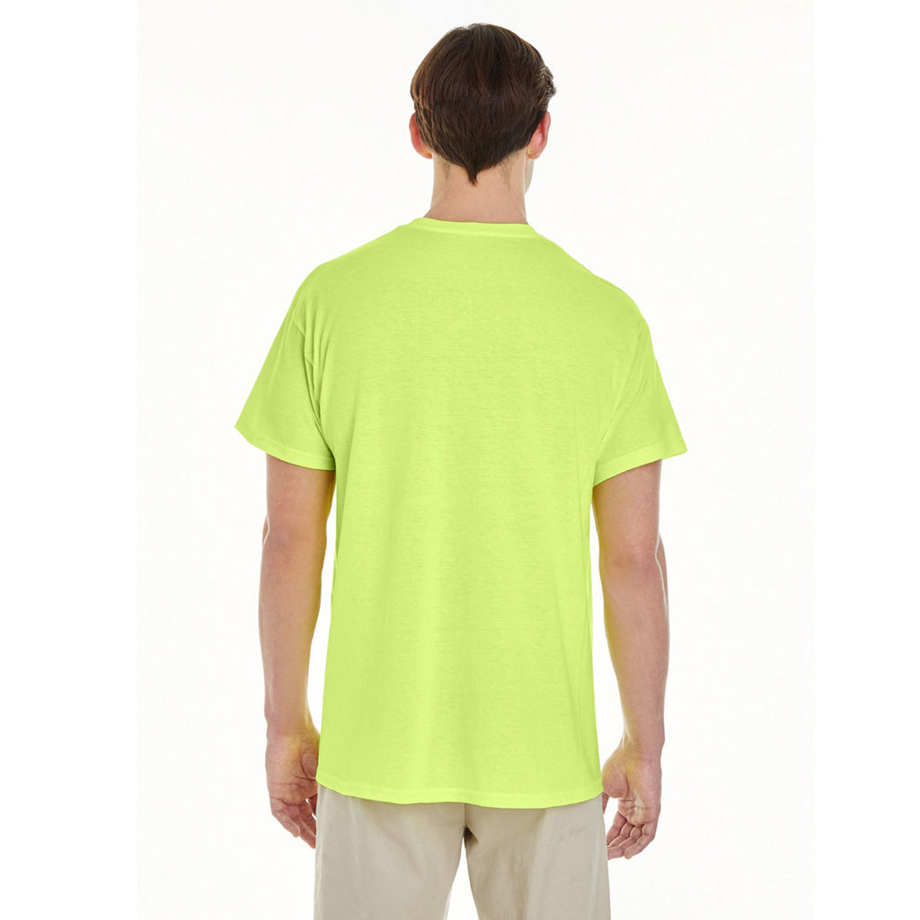 Gildan Men's Safety Green Heavy Cotton 5.3 oz. Pocket T-Shirt